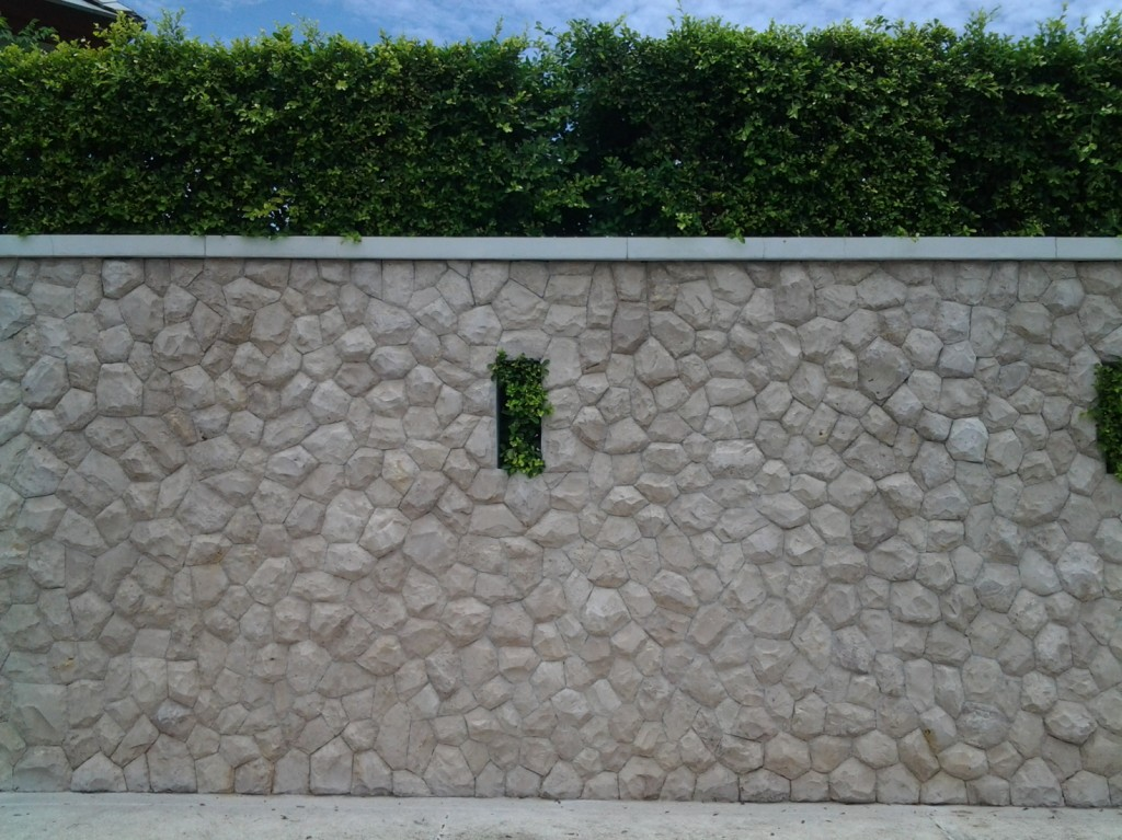 รั้วปูน,กำแพงปูน