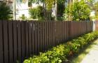 การติดตั้งรั้วหน้าบ้าน และการติดระแนงไม้เทียมกับประตูรั้วหน้าบ้าน